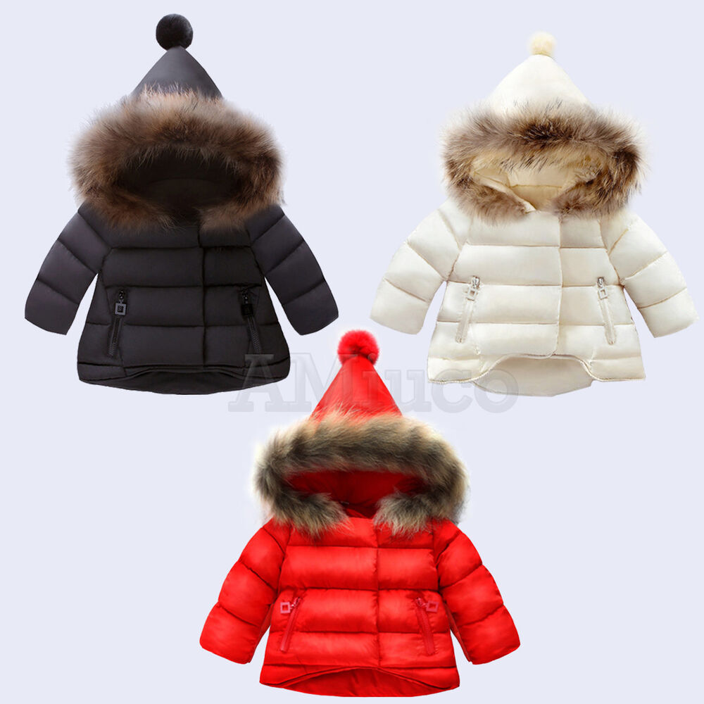 046698fdb Toddle Baby Winter Coat Down Jacket Thick Fur Collar Kids Girls ...