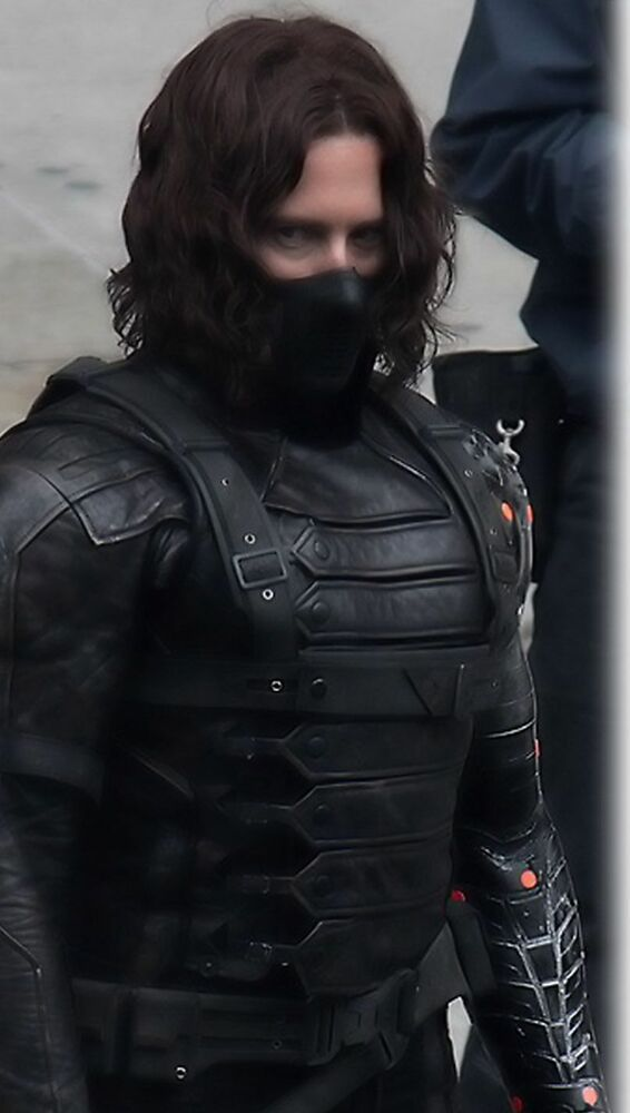 Captain America The Winter Soldier Bucky Barnes Leather