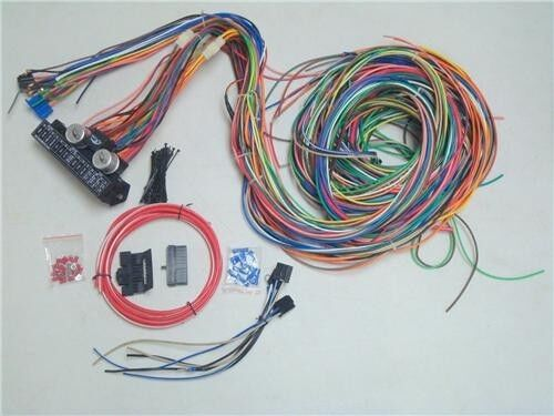 12v 24 Circuit 15 Fuse Street Hot Rod Color Wiring Harness