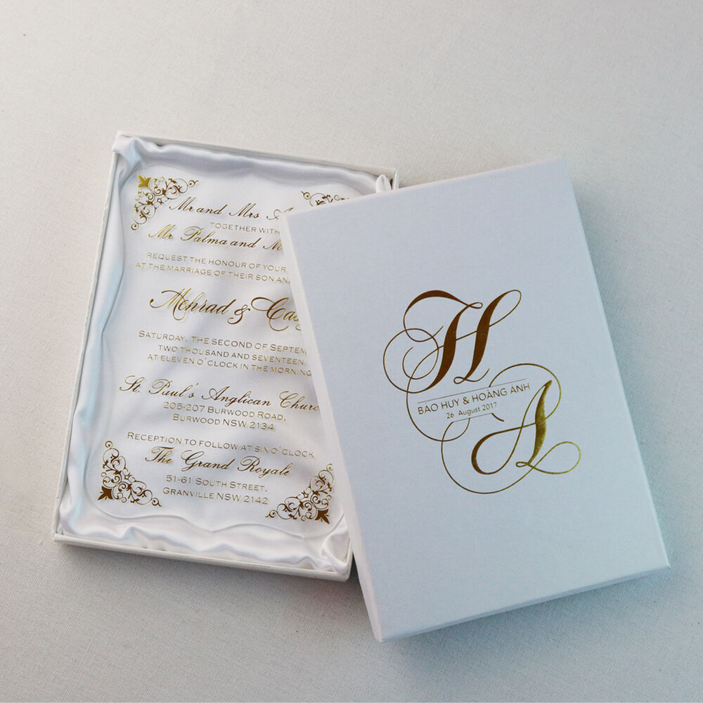 Personalised gold printing Unique Luxury Day Evening