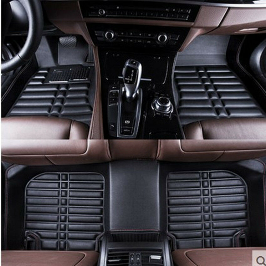 toyota highlander 2014 2017 car floor mats liner front rear carpet mat fly5d ebay. Black Bedroom Furniture Sets. Home Design Ideas