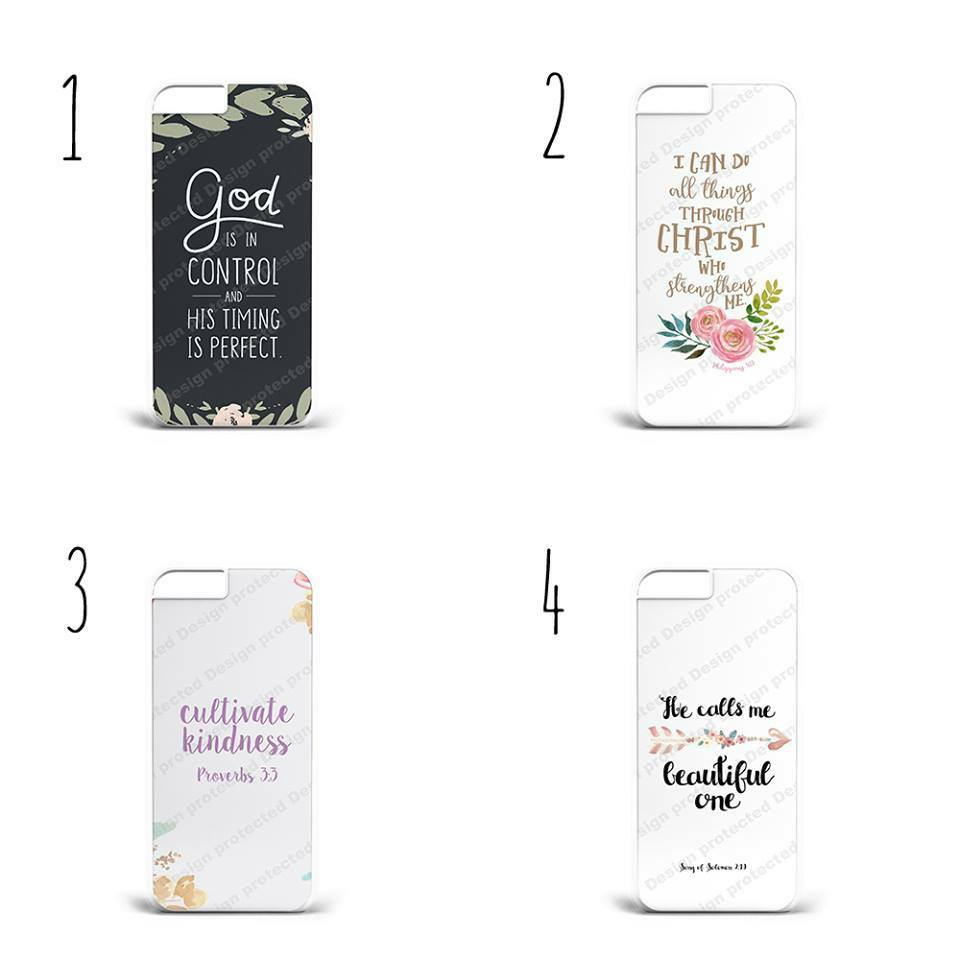 Bible Quotes Jesus Christ Hard Plastic Phone Case Cover All Iphone