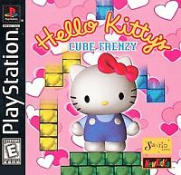 Hello Kitty's Cube Frenzy (Sony PlayStation 1, 1999) COMPLETE-FREE SHIPPING USA