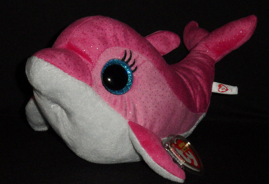 65f421885f5 Details about TY BEANIE BOOS BOO S - SURF the DOLPHIN - MEDIUM 9