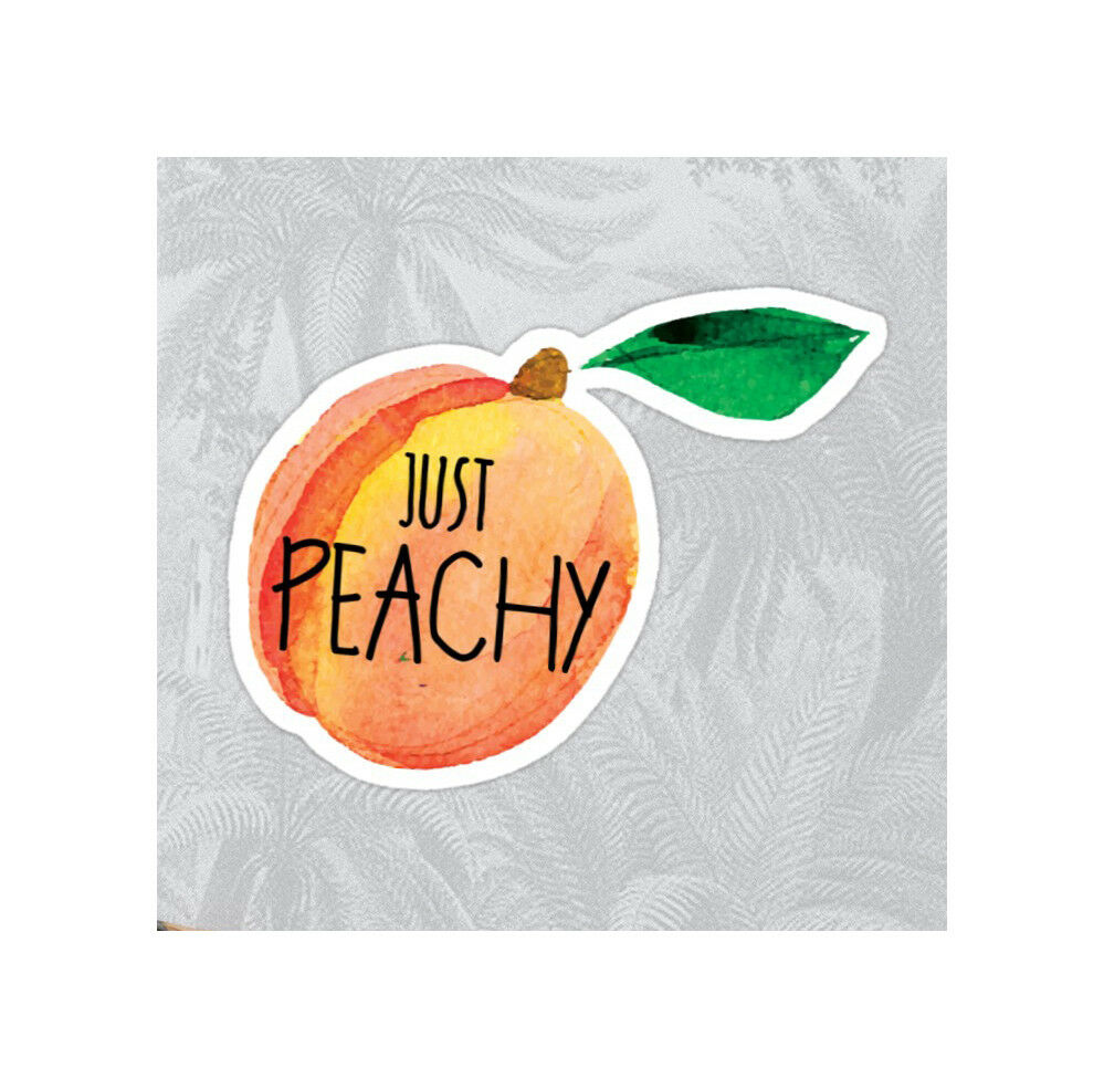Details about peachy just peachy peach decal sticker laptop tumblr water bottle 3 7 x 3