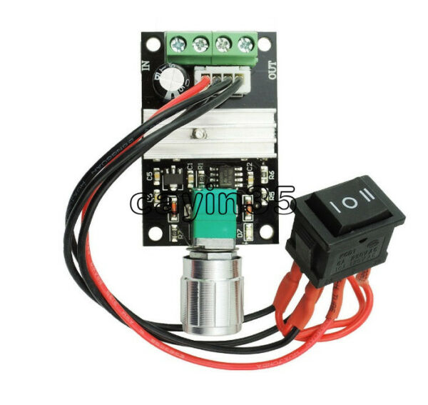 6V/12V/24V/28V 3A 80W DC Motor Speed Controller PWM Adjustable Reversible 1203BB