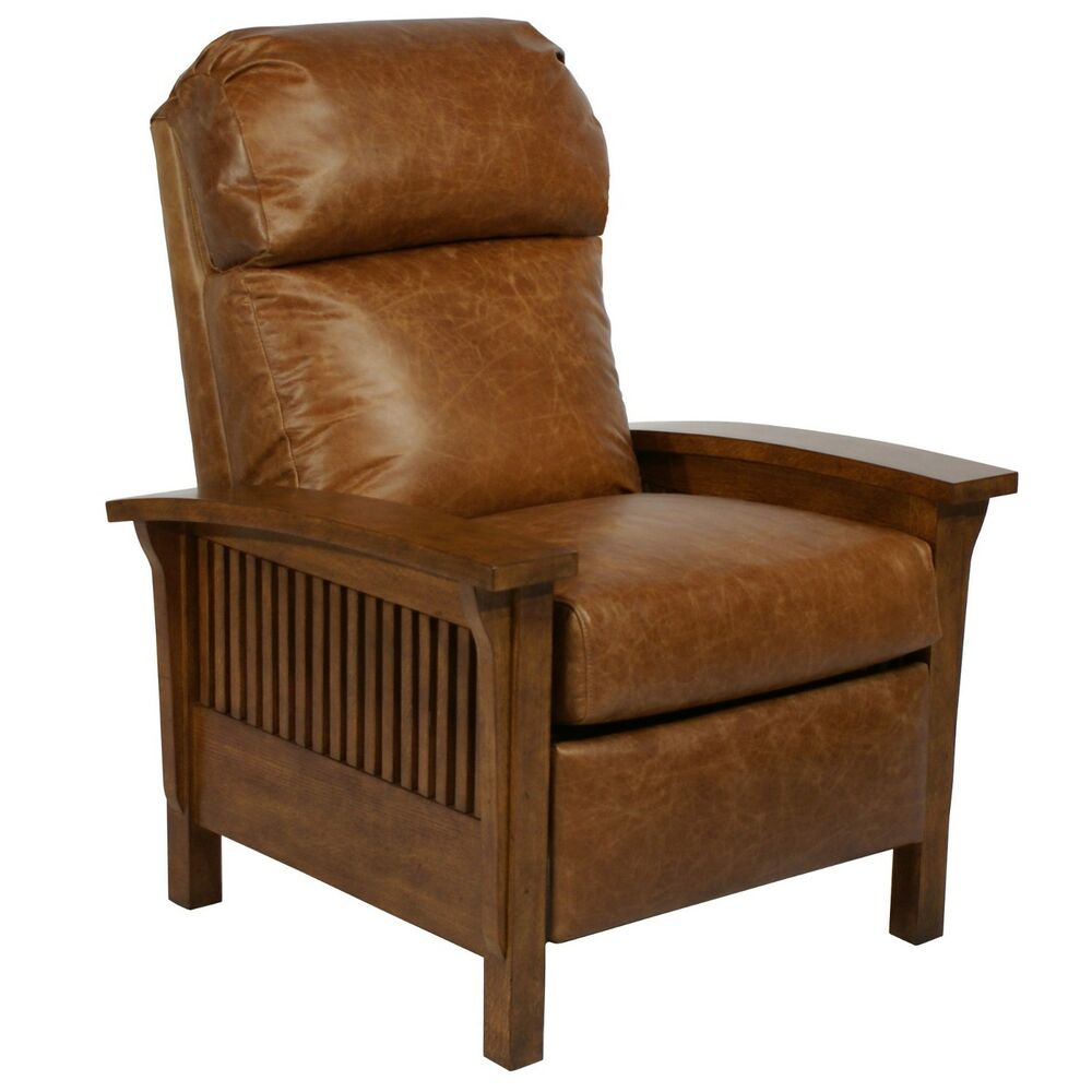 Barcalounger Craftsman II Genuine Chaps Saddle Leather Recliner Lounge Chair | eBay  sc 1 st  eBay & Barcalounger Craftsman II Genuine Chaps Saddle Leather Recliner ... islam-shia.org