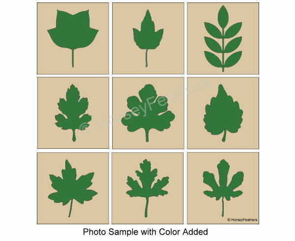 NEW Leaf ShapesBundle 9 STENCILSPlay Leaves Fall Autumn DIY U Paint Country