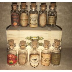 """LABELS ONLY 1"""" &Less Halloween Apothecary Potion Bottles Harry Potter Party Prop"""