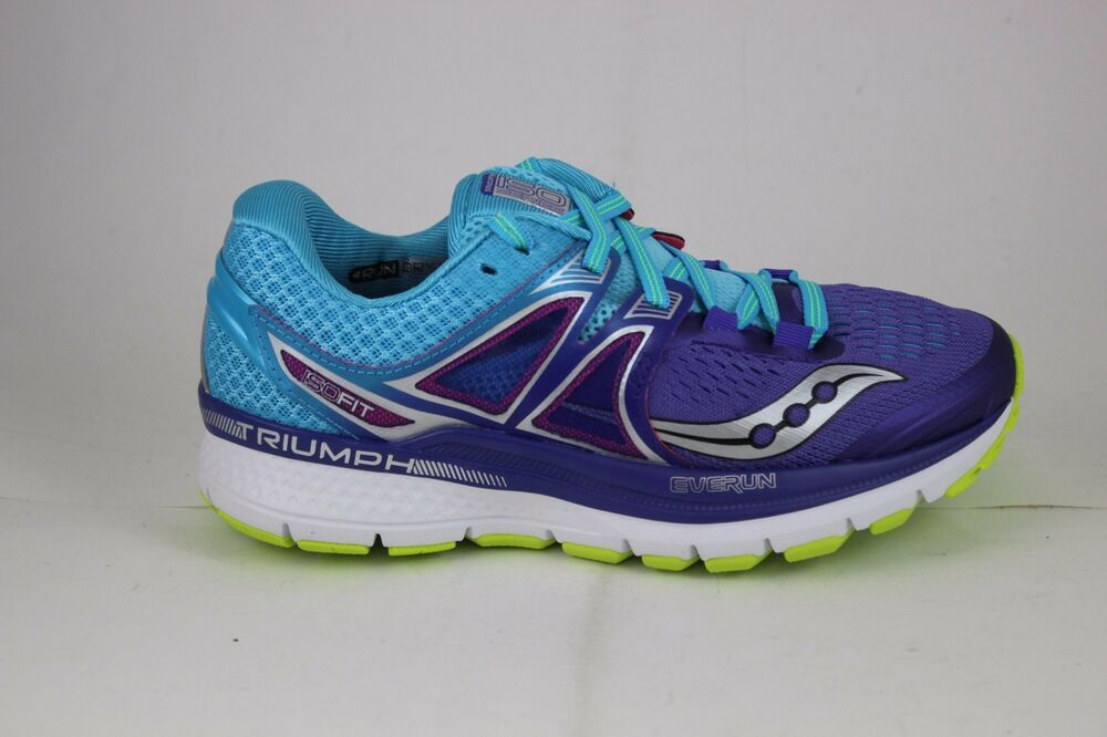 001e8383 Details about Saucony Women's Triumph ISO 3 Purple/Blue/Citron S10346-1 New Wide  Width Avail