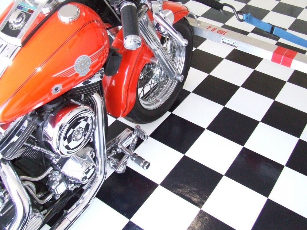Details About 8 X 12 Roll Trailer Floor Black White Checkered Checkerboard Vinyl Flooring