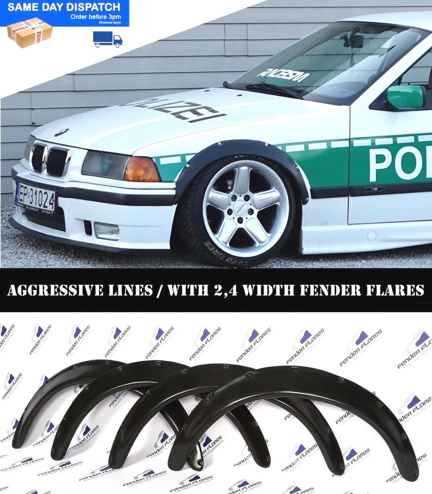 BMW E36 Fender Flares WHEEL Arches Extension Wide Body Kit ...