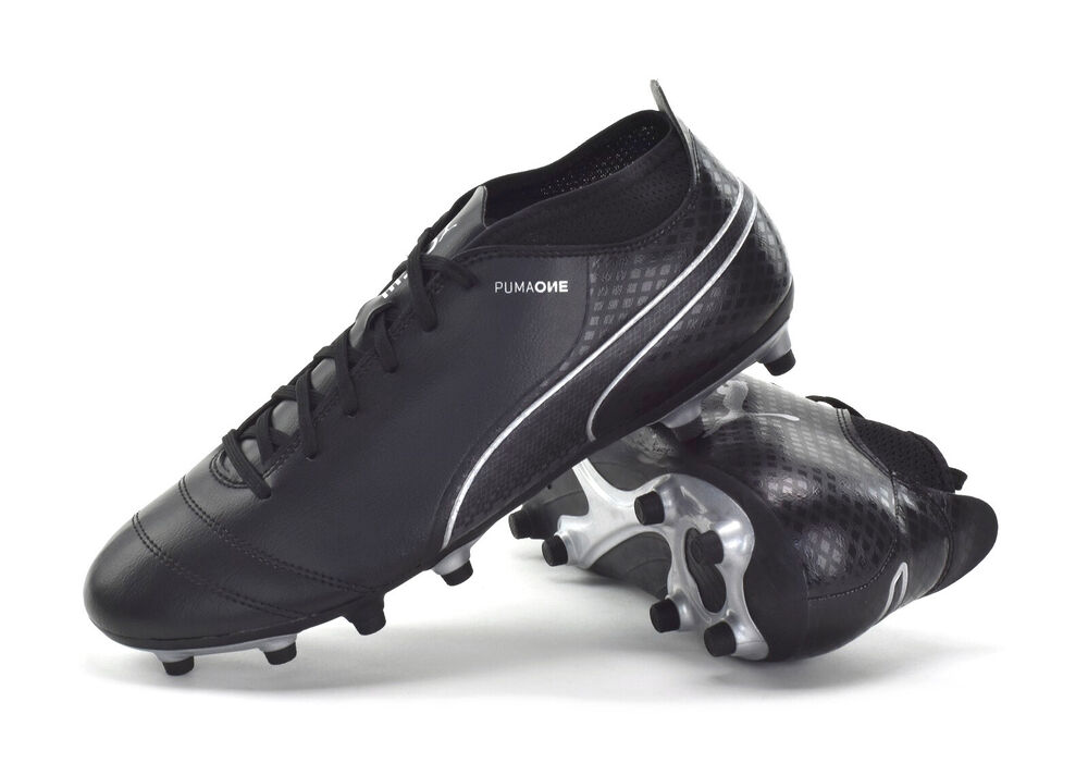 Details about PUMA ONE 17.4 FG -MENS FIRM GROUND FOOTBALL BOOTS - BLACK-  104075 04 - BRAND NEW f2d75faaa