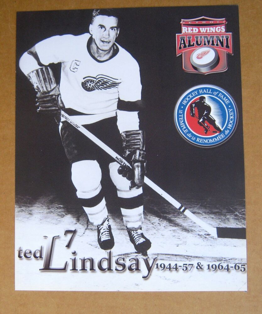 7d103f942cc Detroit Red Wings Ted Lindsay Wings Alumni 8 x 10 poster