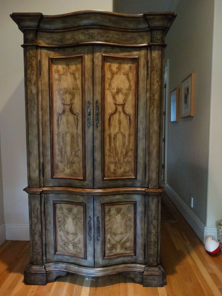 HOOKER FURNITURE HAND PAINTED 45u2033 Clothing / Media Armoire 500 50 333