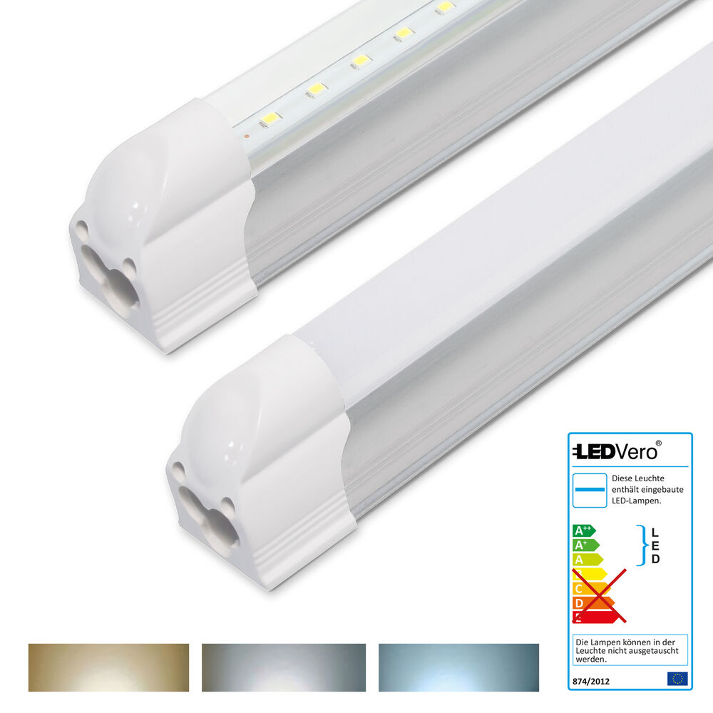 1 20x ledvero t5 leuchtstofflampe 60cm led tube komplett lichtleiste r hrenlampe ebay. Black Bedroom Furniture Sets. Home Design Ideas