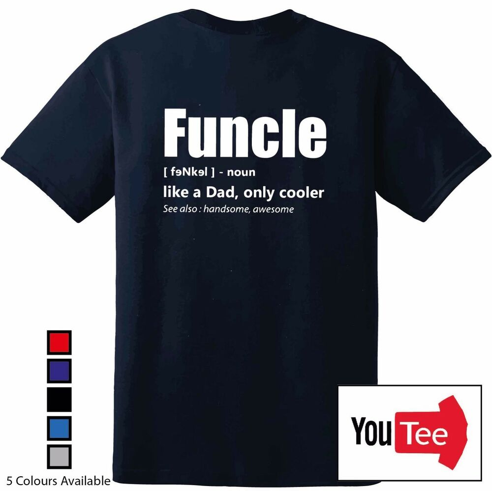 3137b1d5 Details about QUALITY FUNCLE definition T-shirt tshirt fun uncle xmas  nephew niece father top