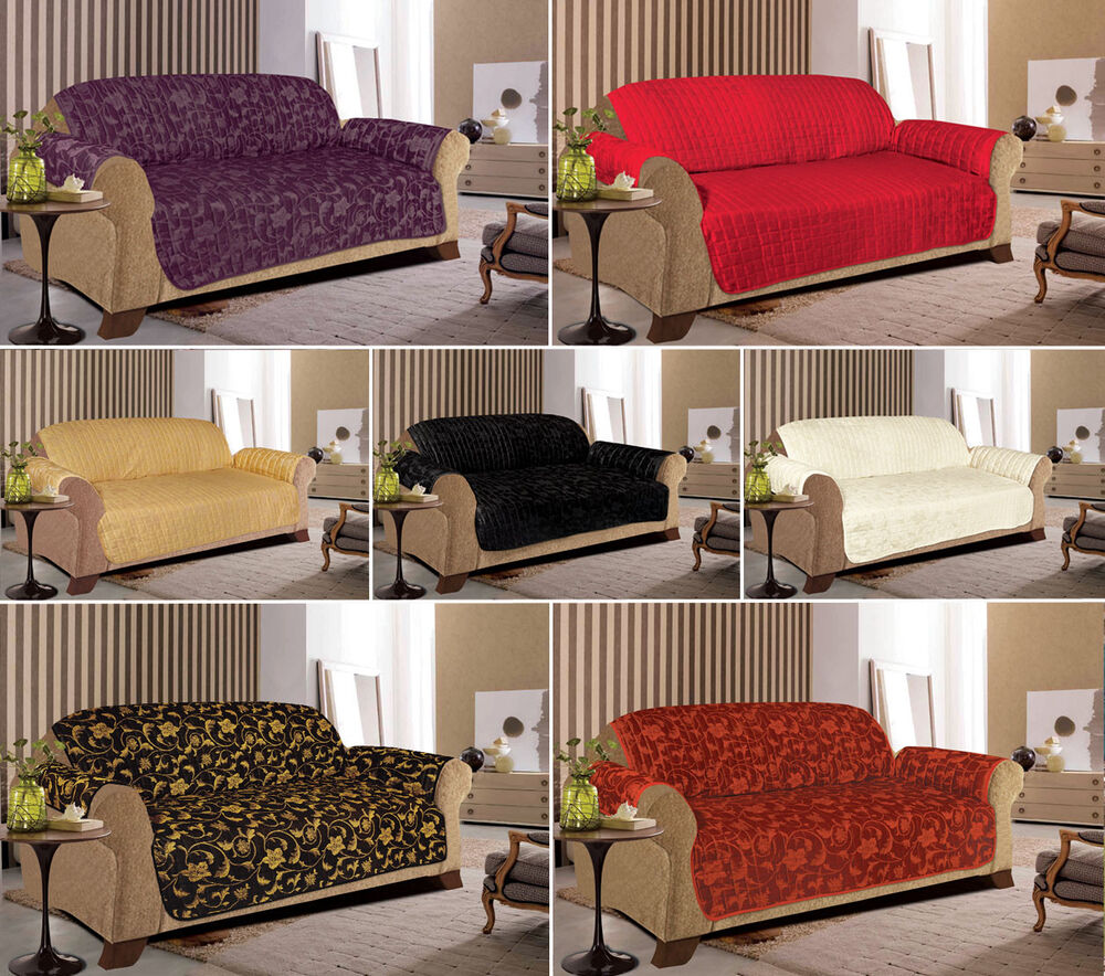 Jacquard Quilted Sofa Slip Covers For 1, 2 & 3 Seater