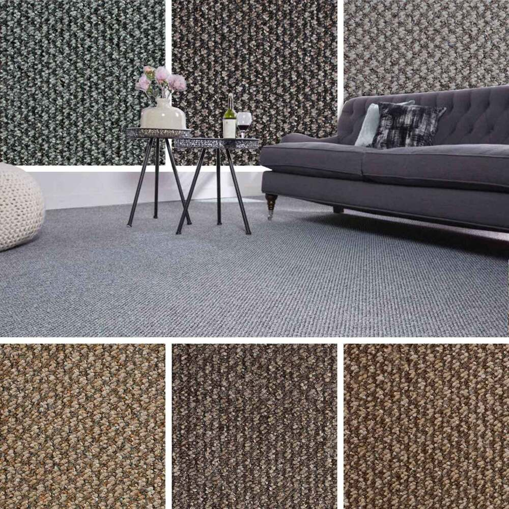 Cheap Flecked Structural Loop Pile Carpet Felt Backed