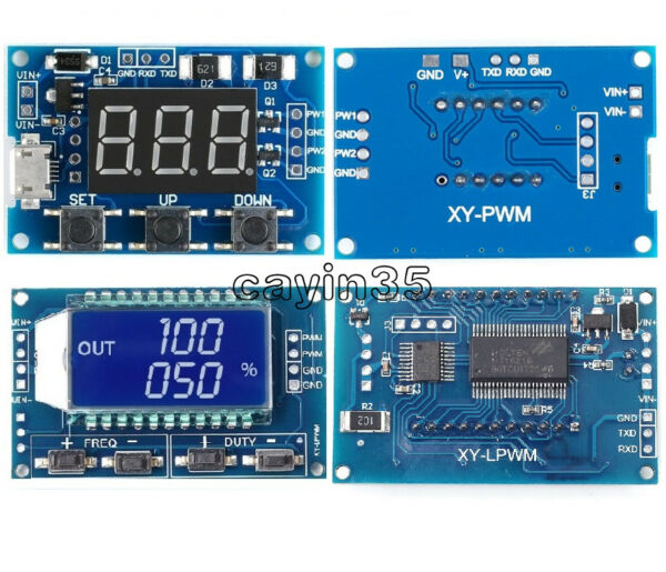 Adjustable PWM Pulse Frequency Duty Cycle Square Wave Signal Generator Module UK
