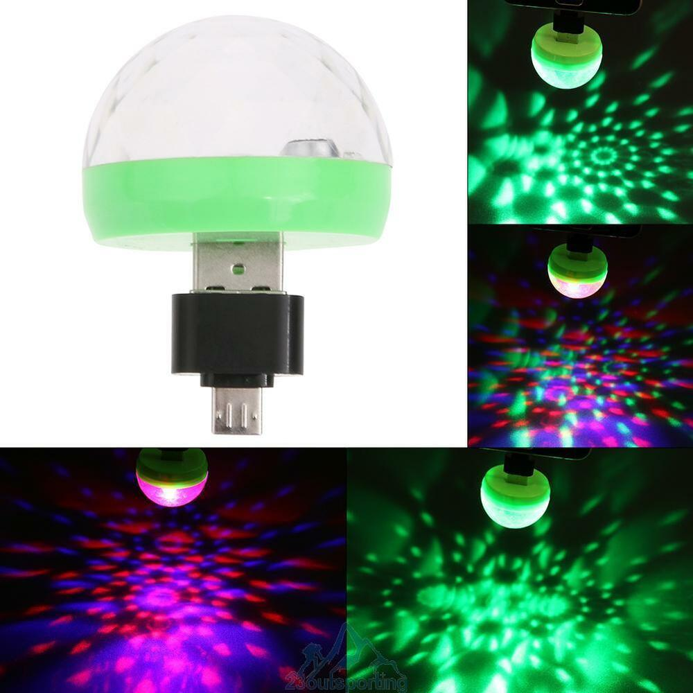mini usb rgb led b hnenlicht lichteffekt birne licht lampe disco android adapter ebay. Black Bedroom Furniture Sets. Home Design Ideas