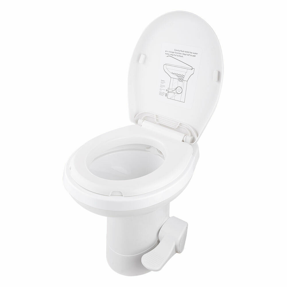 20 Quot Rv Camper Toilet Gravity Flush Toilet Foot Pedal Home