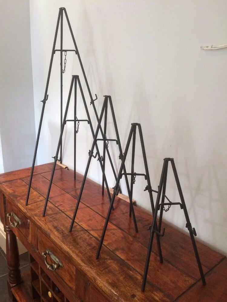 Iron Easel Tripod Display Canvas Picture Artwork Book Plate Stand Wedding