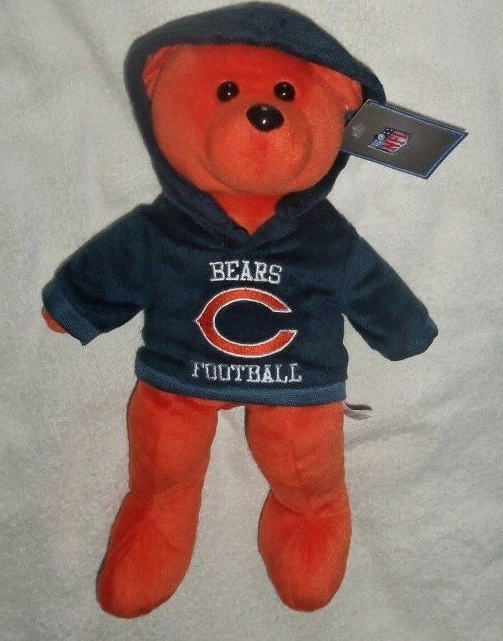 bcccedd67fe NFL Large Vintage Plush Chicago Bears Hoodie Teddy Bear   Soft Toy New 15  Inches