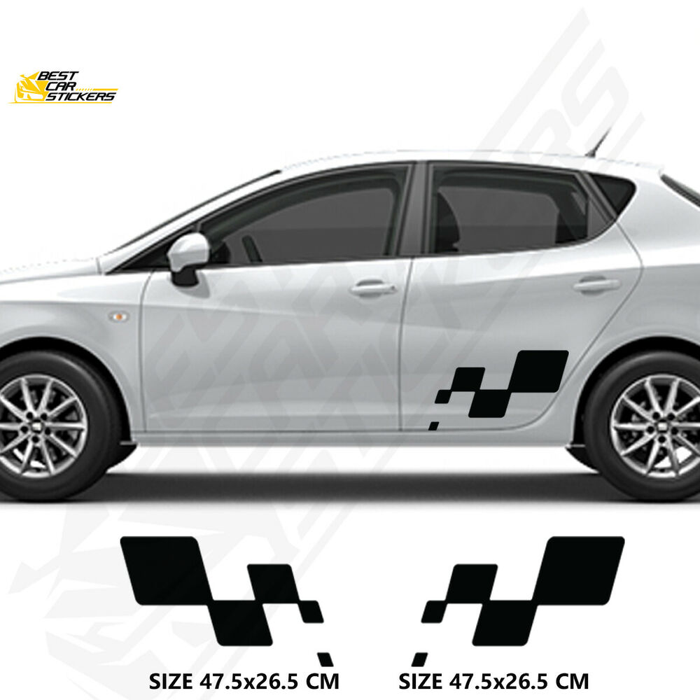 Details about fits seat side racin stripes cars stickers vinyl decals graphics