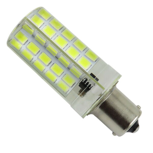 BA15S Dimmable LED Light Bulb 80 LED 5730 SMD 110/220V Silicone Crystal Lamp #E
