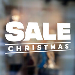Sale Christmas Holiday Store Front Glass Window Door Wall Vinyl Decal Sign