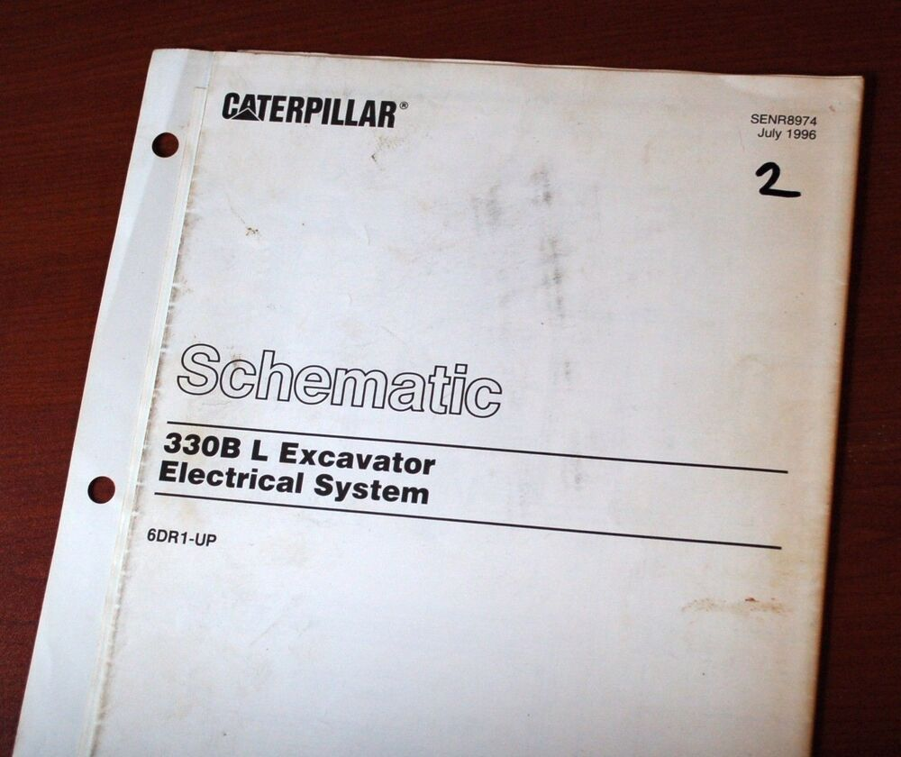Caterpillar 330b Excavator Electrical System Schematic Diagram Manual  service | eBay