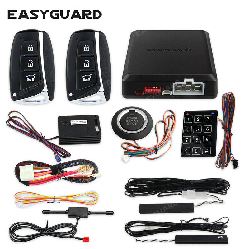 Ec002 Hy Ns Pke Car Alarm System Passive Keyless Entry Remote Engine Viper 5606v Wiring Diagram Starter 600682323802 Ebay