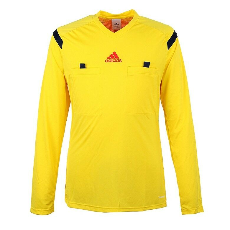 f1b6de74ce Details about XS Womens Adidas Yellow World Cup Referee Shirt Climacool Long  Sleeve D822292