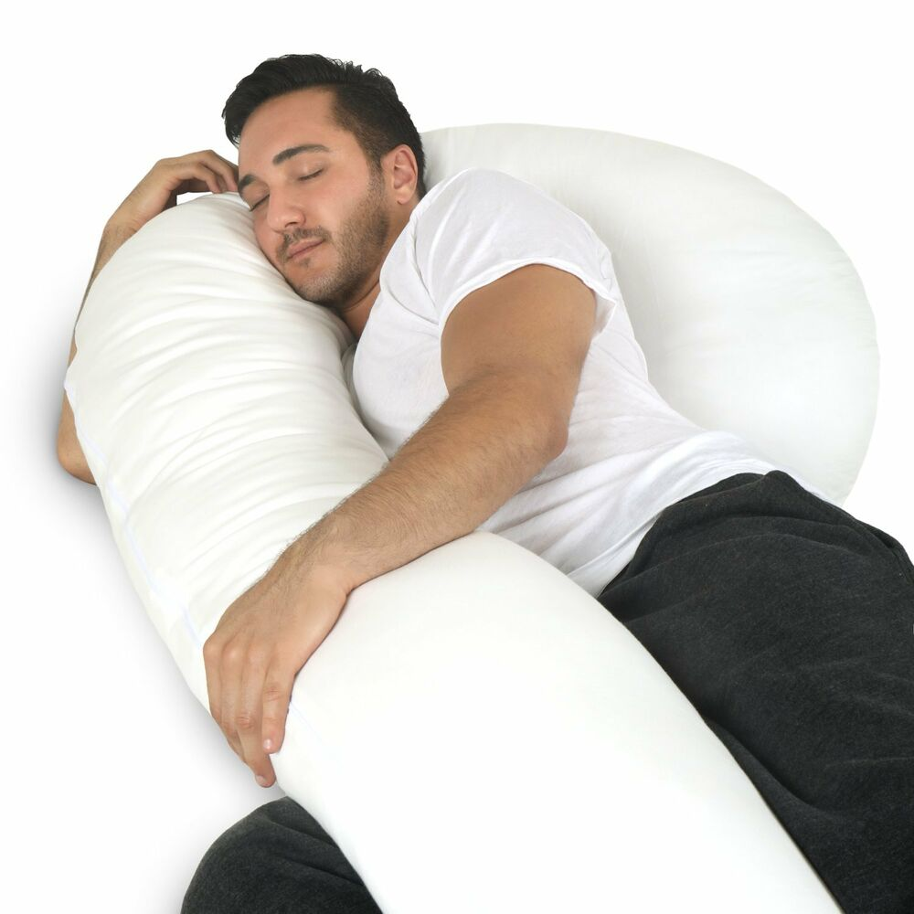 Details about Full Body Pillow - C Shaped Bed Pillow for Men   Women by  PharMeDoc 8b6baeaef
