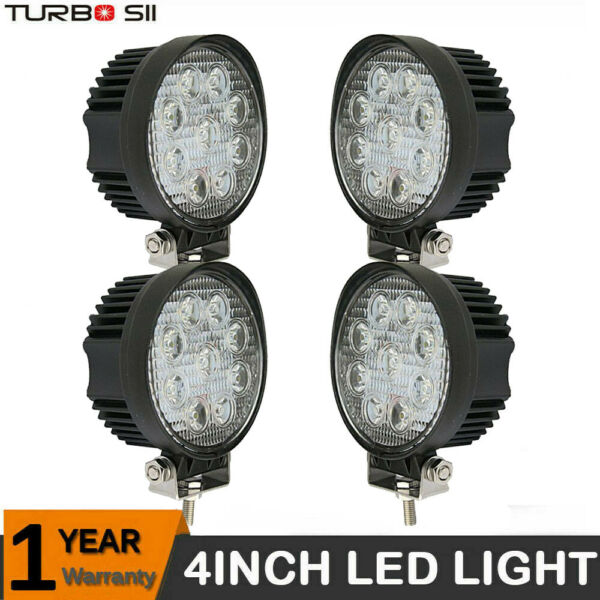 4x 18W Cree Led Work Lights Pods Flood Offroad Lamp For ATV JEEP UTE 4'' Cube