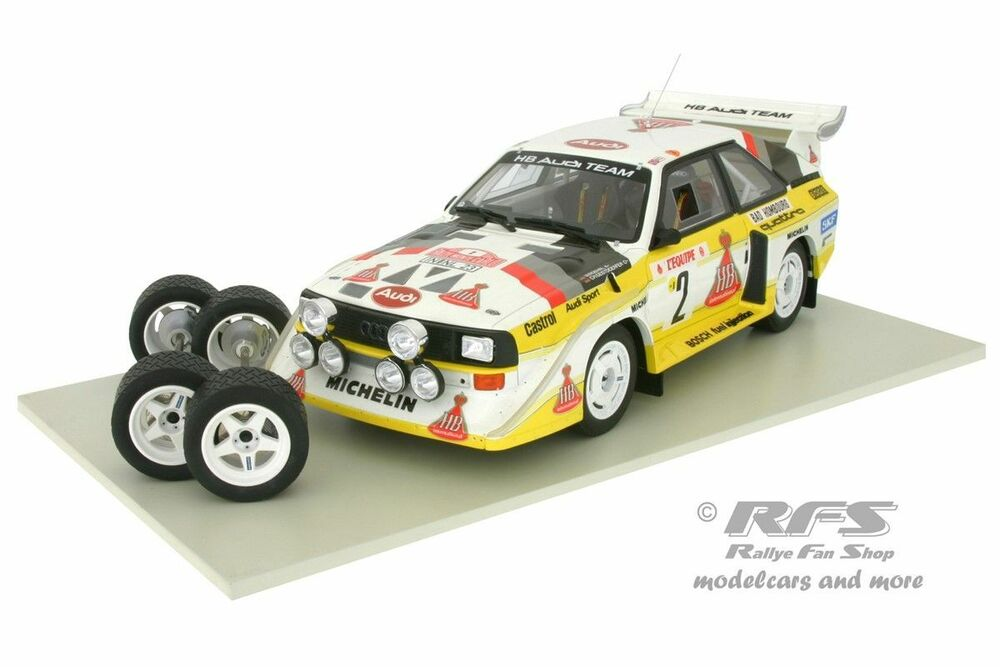 audi sport quattro s1 rallye monte carlo 1986 r hrl 1 18 ottomobile 602bmfs ebay. Black Bedroom Furniture Sets. Home Design Ideas