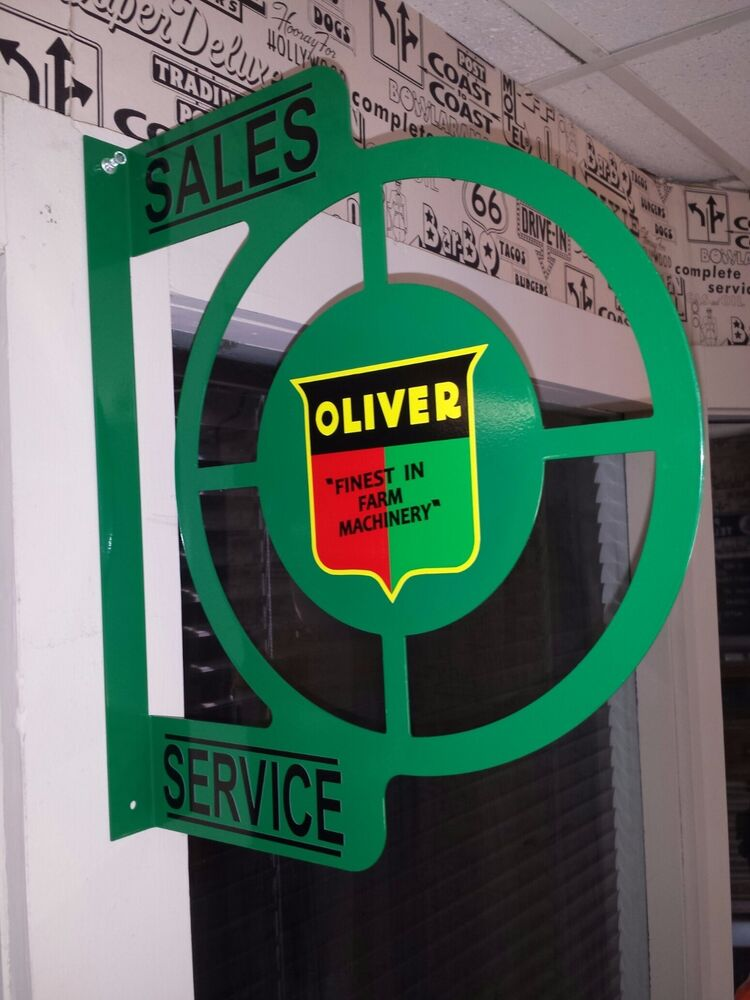 Oliver Tractor Nostalgic Wall Flange Advertising Sign 2