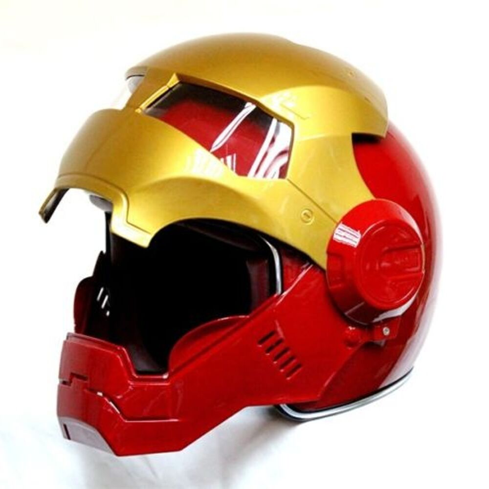 masei bike scooter moto iron man helmet motorcycle helmet open face ebay. Black Bedroom Furniture Sets. Home Design Ideas