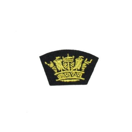 img-Badge Crown Silk Merchant Navy Iron or Sew On Sold each
