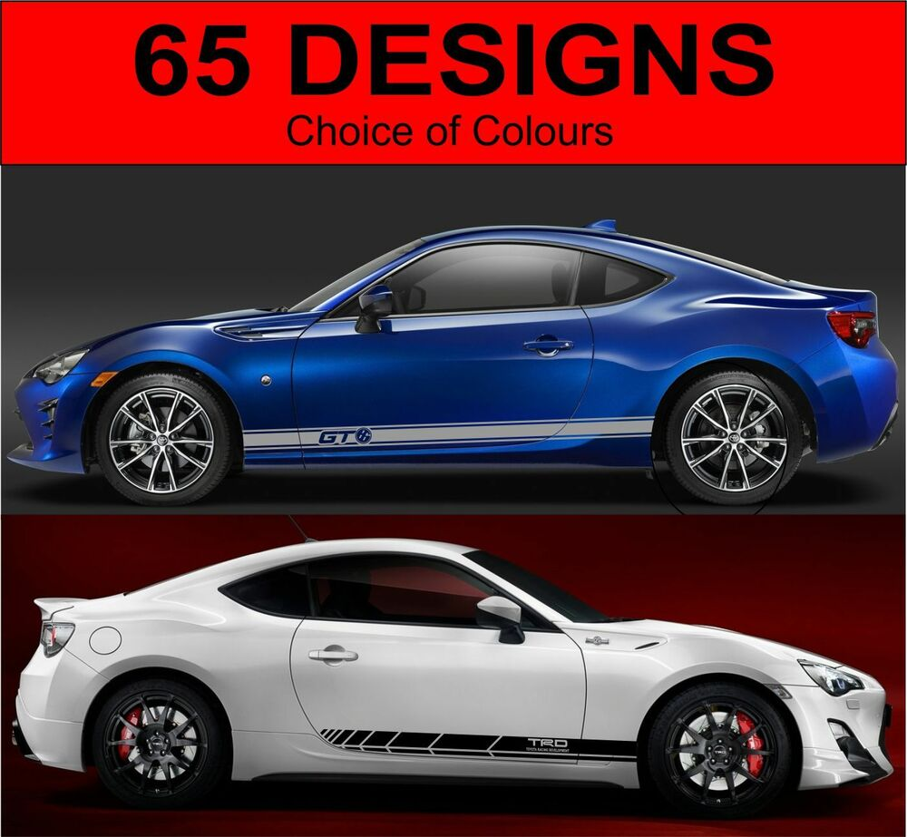 Toyota Gt86 Side Stripes Decals Graphics Side Stripe