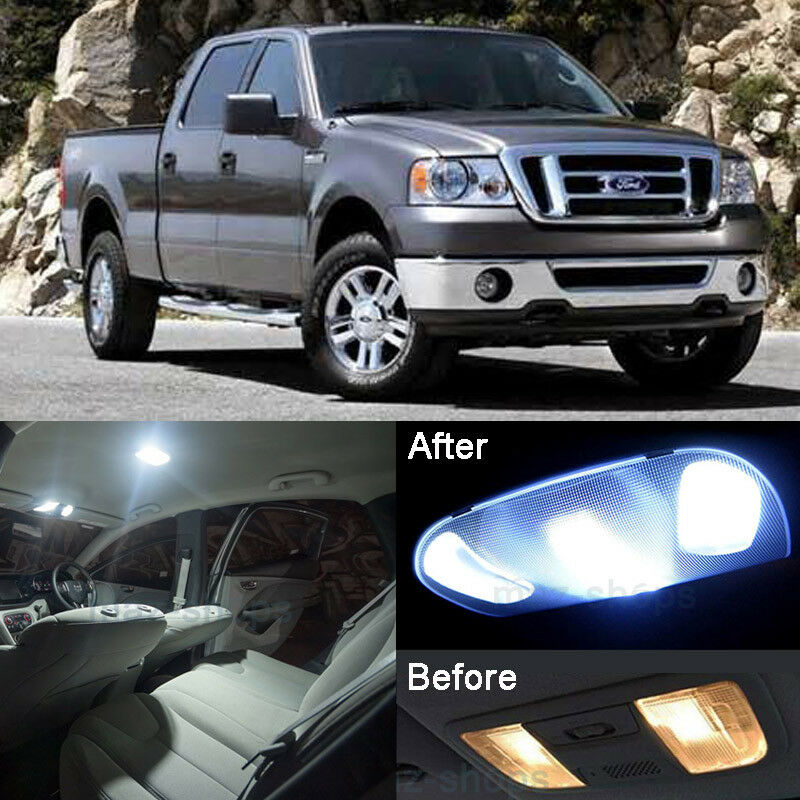 99 Ford F 150 Interior: White 9Pcs Lights SMD LED Interior Package Kit For Ford