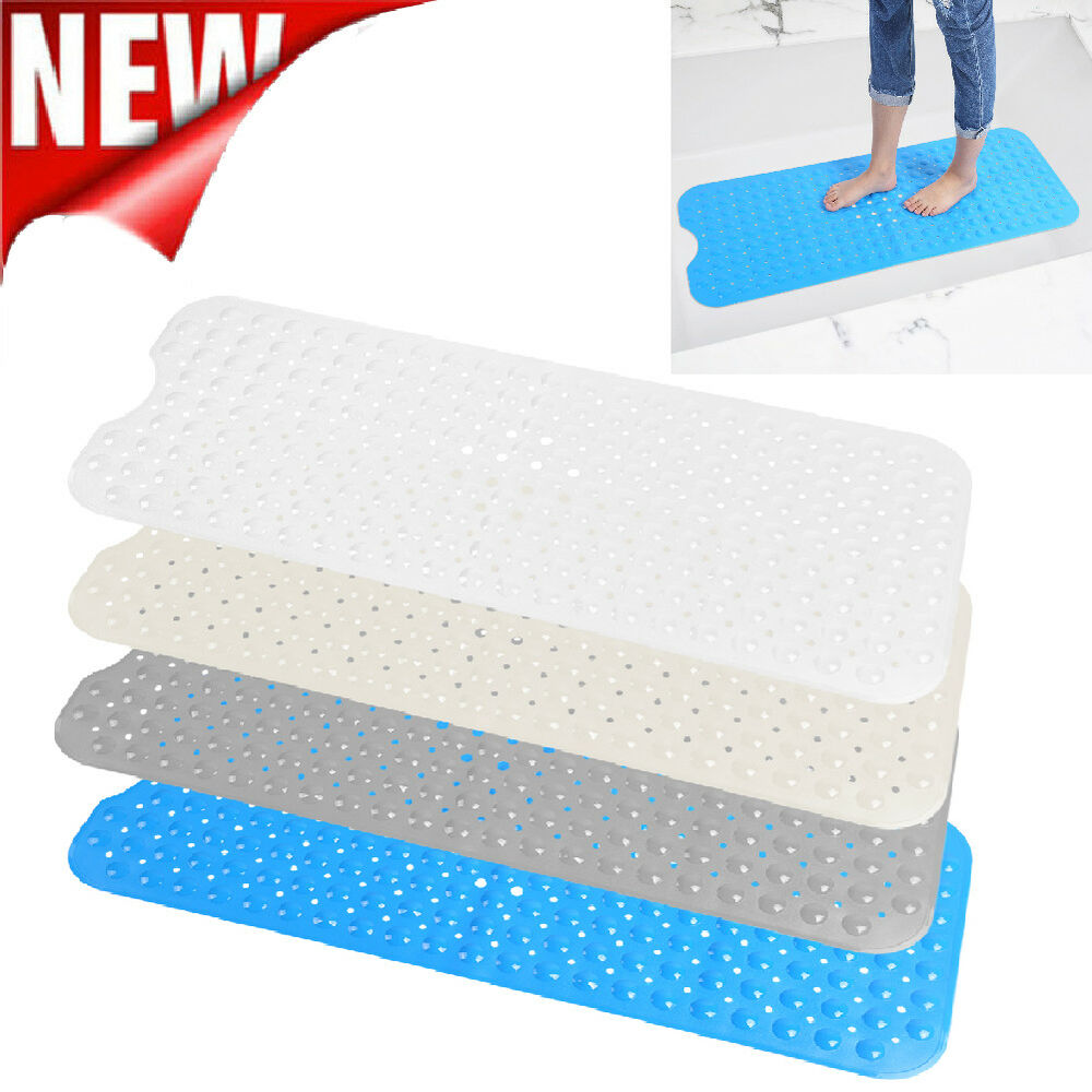 Bath Mat Non Slip Anti Skid Rubber Shower Tub Safe