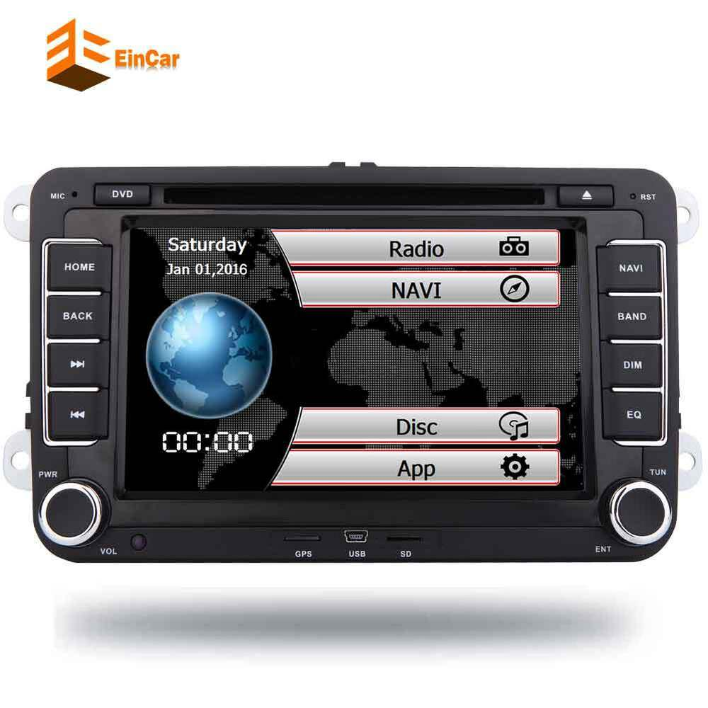 7 autoradio 2din bluetooth gps sat navi dvd f r vw passat golf 5 6 polo caddy ebay. Black Bedroom Furniture Sets. Home Design Ideas