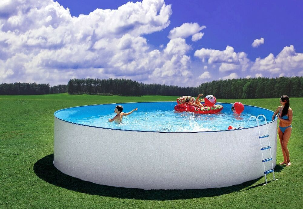 pool komplett set stahlwand schwimmbecken schwimmbad 4 50 x 1 20m rund ebay. Black Bedroom Furniture Sets. Home Design Ideas