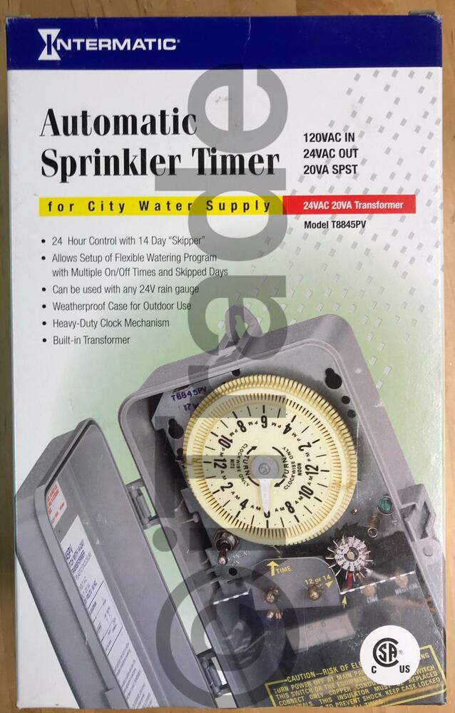 intermatic t8845pv automatic indoor/outdoor sprinkler timer new free  shipping 78275700741 | ebay