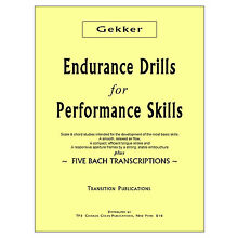 Gekker: Endurance Drills for Performance Skills Dist. by Charles Colin Publ
