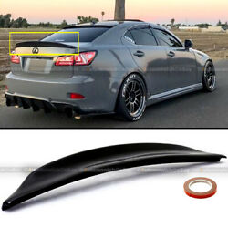 Fit 06-12 IS250 IS350 Duckbill Highkick Painted Glossy Black Trunk Wing Spoiler