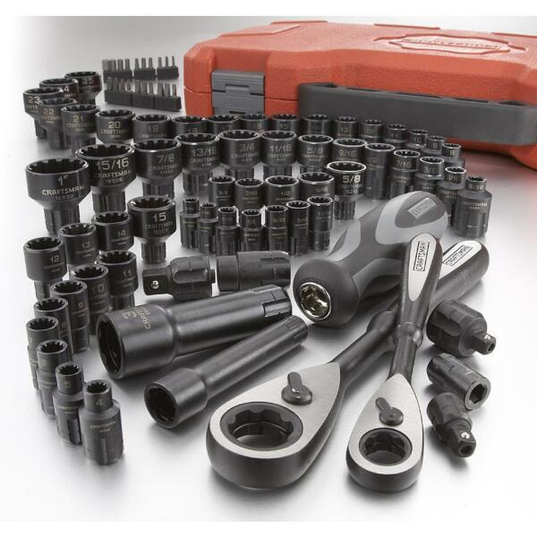 NEW Craftsman 85 pc Piece Universal Max Axess Ratchet Socket Tool Set SAE Metric