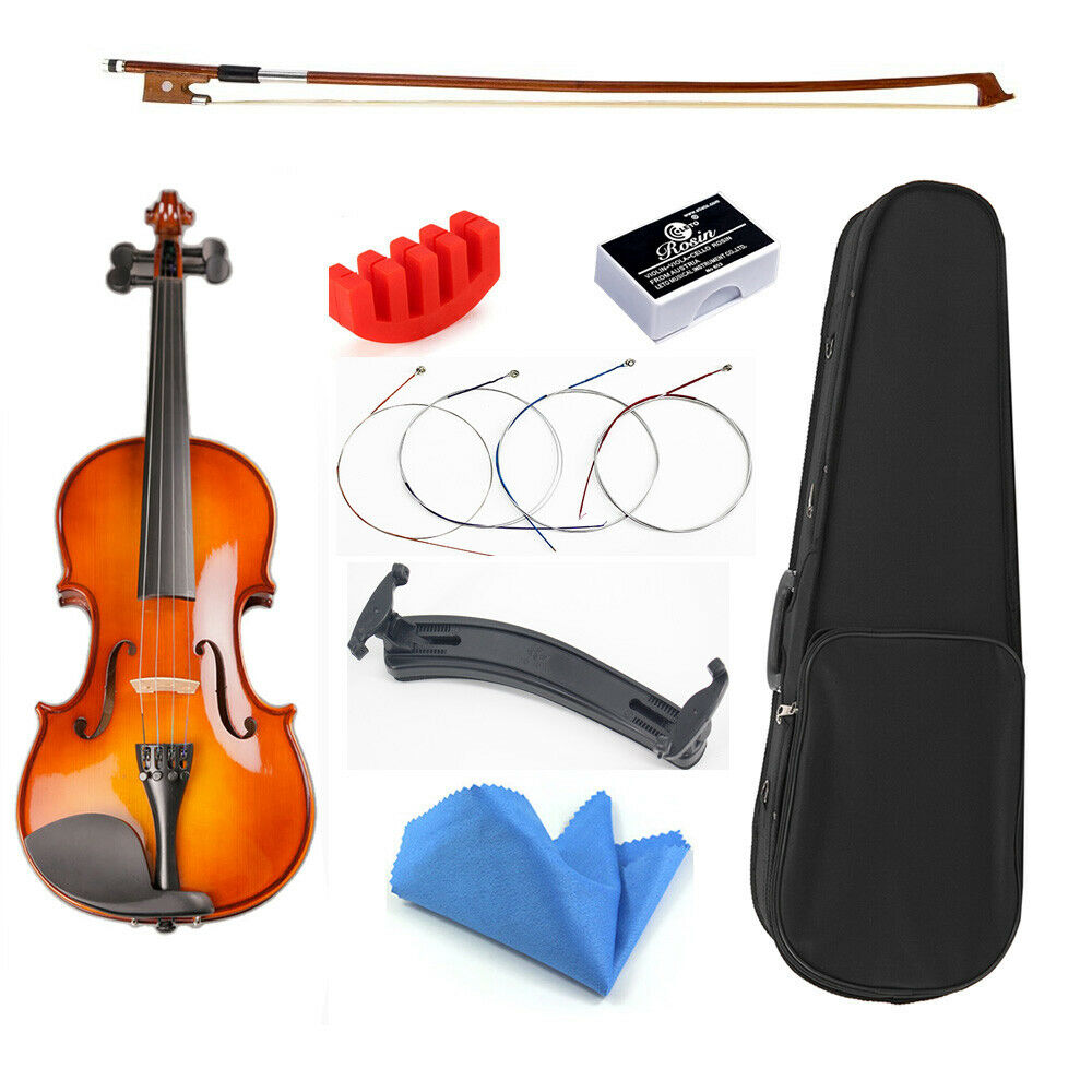 the handmade solid wood professional high quality students violin for sale ebay. Black Bedroom Furniture Sets. Home Design Ideas